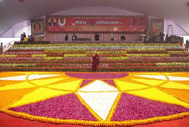 Ven. Trisha before the big event, Kushinagar, India, December 13, 2013. Photo by Andy Melnic