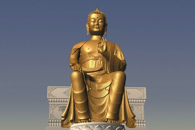 Computer rendition of Maitreya statue. Image courtesy of Maitreya Project.