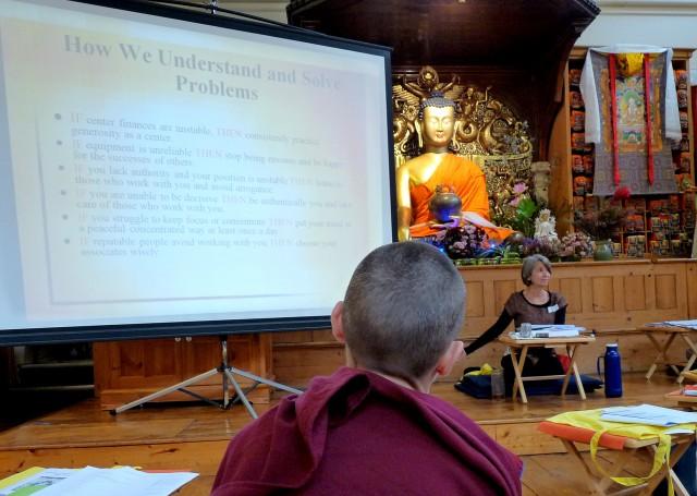 Foundation Service Seminar, Jamyang Buddhist Centre London, October 2013. Photo by Sarah Brooks.