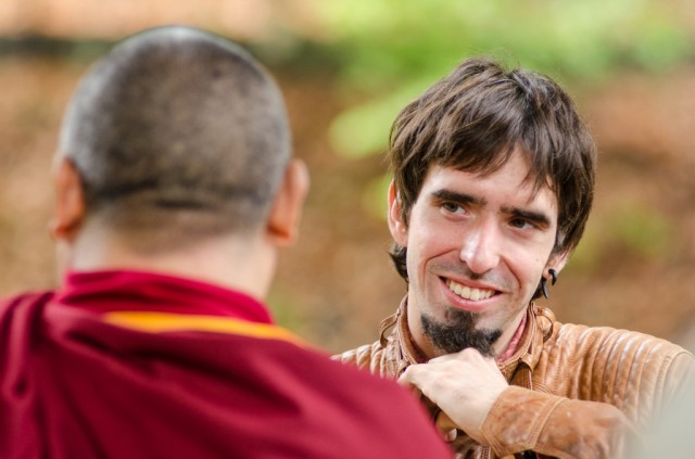 Tenzin Ösel Hita with Ven. Pemba Sherpa in the, Land of Medicine Buddha, California, September 21, 2013. Photo by Chris Majors.