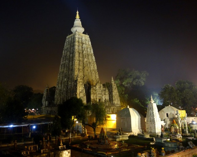 Mahabodhi Stupa, Bodhgaya, India, January 2014. Photo by Ven. Roger Kunsang.