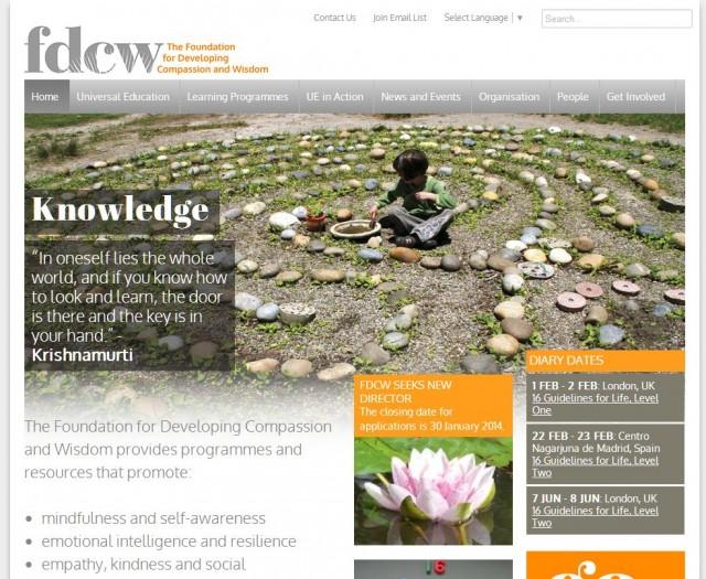 Screen shot of www.compassionandwisdom.org