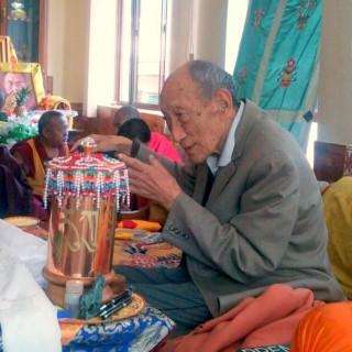 Khyongla Rato Rinpoche, Osel Labrang, Sera Monastery, January 2014. Photo by Ven.Gyalten Samten.