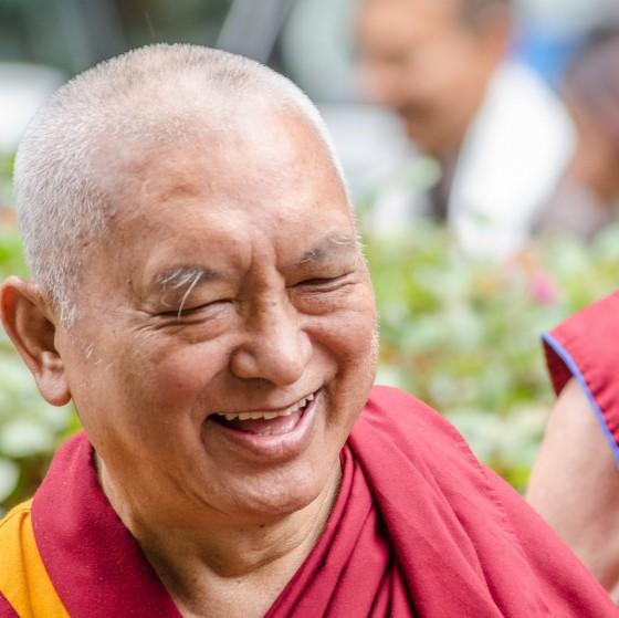 Lama Zopa Rinpoche, Land of Medicine Buddha, September 2013. Photo by Chris Majors.
