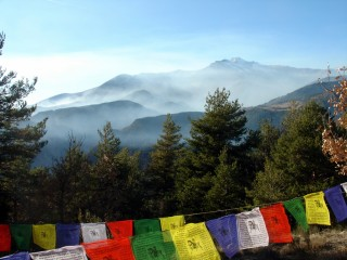 The vista from Thakpa Kachoe Retreat Land's first meditation chalet. Photo courtesy of Thakpa Kachoe Retreat Land.