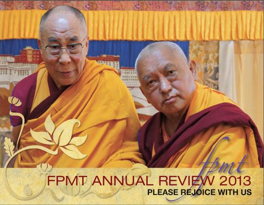FPMT Annual Review 2013 cover