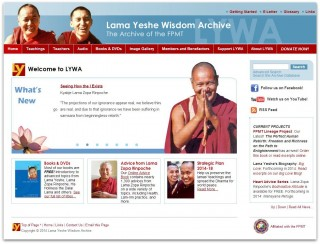 The Lama Yeshe Wisdom Archive website