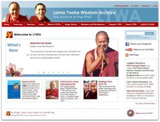 The Lama Yeshe Wisdom Archive website