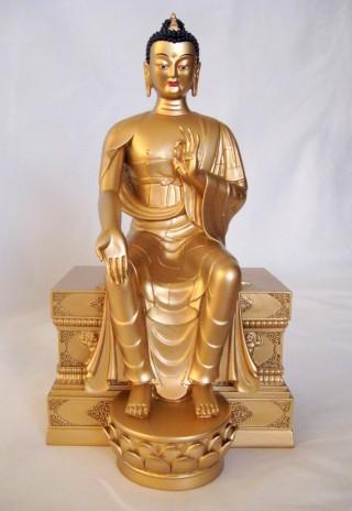 Statue of the future Buddha, Maitreya. Photo courtesy of the Maitreya Project.