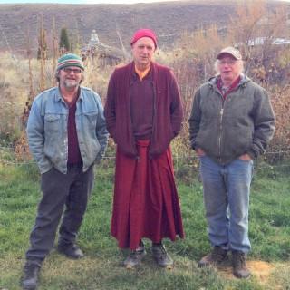 Bruce, Ven. Yarphel and Gary, Tonasket, Washington, US, November 2013. Photo by Su Ianiello.