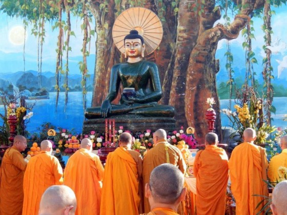 Closing ceremony for Jade Buddha's visit to Santa Ana, California, January 2014