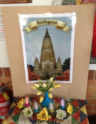 "Students are able to visit ""Bodhgaya"" without leaving Australia, November 2013. Photo courtesy of Langri Tangpa Centre."