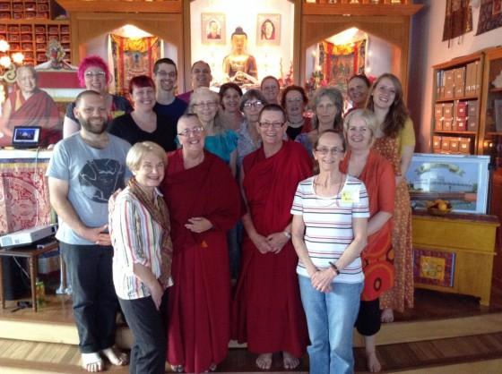 The participants of Langri Tangpa Centre's first virtual pilgrimage, November 2013. Photo courtesy of Langri Tangpa Centre.