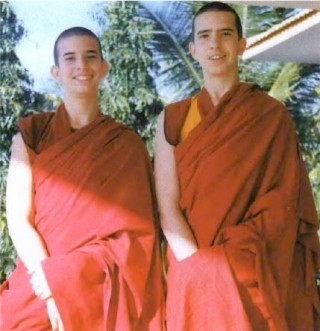 Kunkyen, left, with his brother Lama Osel. Photo by Paco Hita.