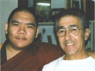 Serkong Rinpoche with his disciple Alex Benin