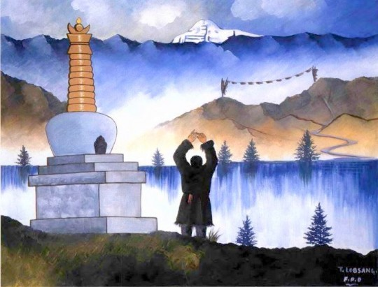 Painting by T. Lobsang/ Friendship Painting Organization