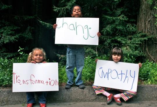 Some of the children of Tara Redwood School. Photo courtesy of tararedwoodschool.org.