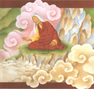 "Illustration from ""All the Way to Lhasa"" by Barbara Helen Berger"
