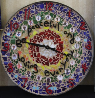 Clock from Tara Redwood School, March 2014. Photo courtesy of Tara Redwood School.