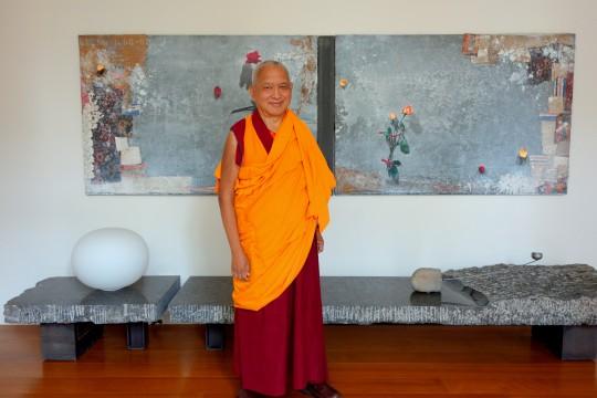 Lama Zopa Rinpoche, Taiwan, April 2014. Photo by Ven. Roger Kunsang.