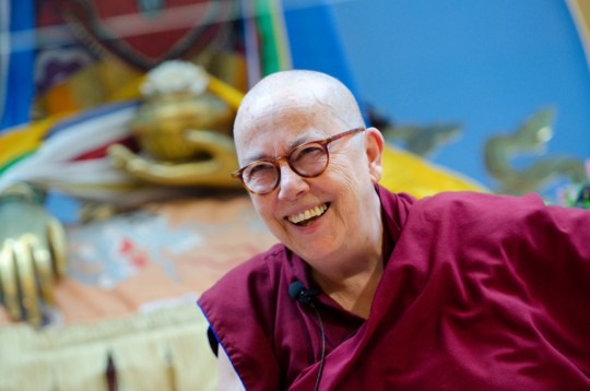 Ven. Robina Courtin, Maitripa College, Portland, Oregon, US, March 2014. Photo by Marc Sakamoto.
