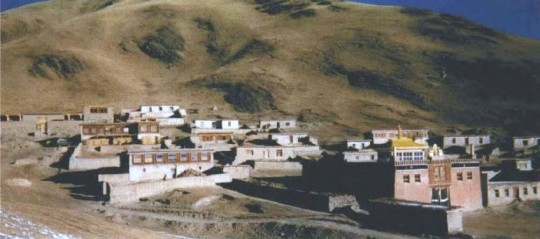 Kilung Monastery and village