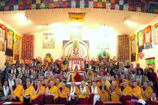 "Participants on ""Illuminating the Path of Wisdom and Compassion,"" Chenrezig Institute, Eudlo, Australia, April 2014. Photo by Eva Mueller."