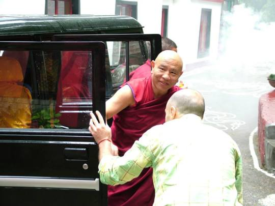 Jhado Rinpoche arrives at Tushita, May 2014. Photo courtesy of Tushita Meditation Centre.