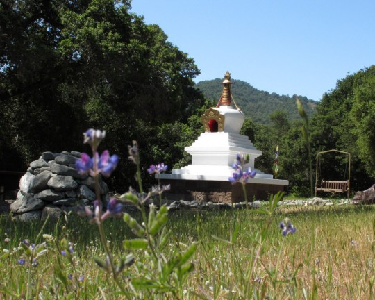 Stupa at Land of Calm Abiding, California, April 2014. Photo courtesy of Land of Calm Abiding.