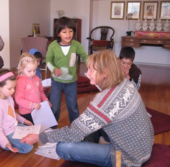 Buddhism (Dharma) for Kids with Anna Carmody. Photo courtesy of Vajrayana Institute.