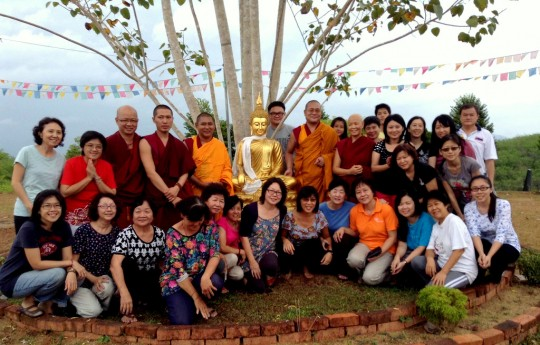Participants at the first annual Sanghata Sutra retreat with Geshe Tsundu, Rinchen Jangsem Ling, Trian Malaysia, March 2014. Photo courtesy of Rinchen Jangsem Ling.