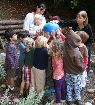 World peace begins the seeds of compassion, Tara Redwood School, Soquel, California, US. Photo courtesy of Tara Redwood School