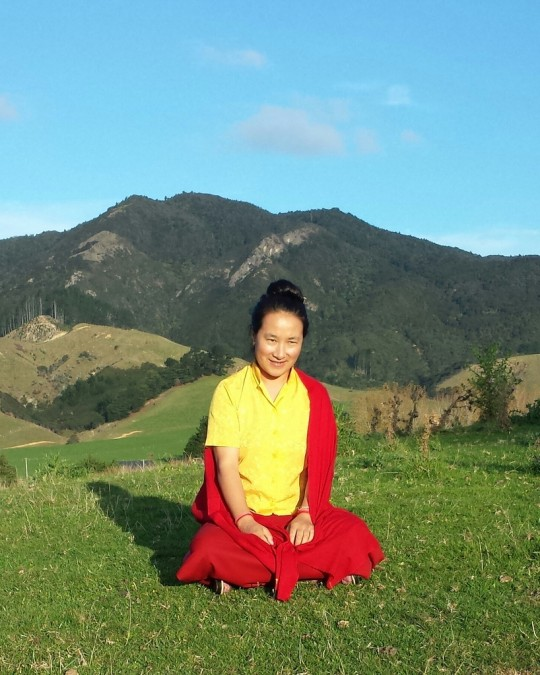 Khadro-la in New Zealand, April 2014. Photo by Carey Aburn.