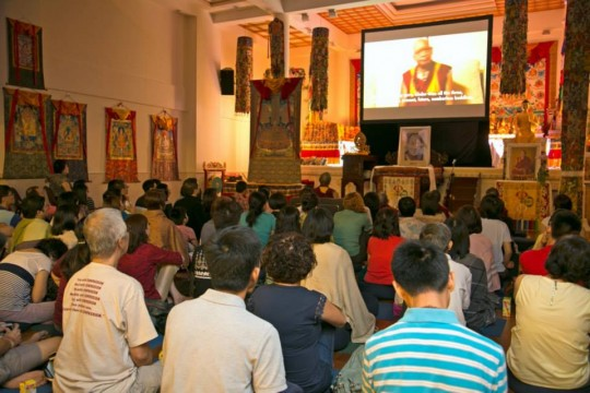Over 100 people watched two videos in celebration of Amitabha Buddhist Centre's 25th anniversary, Singapore, June 7, 2014. Photo via Facebook (Amitabha Buddhist Centre).