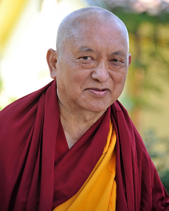Lama Zopa Rinpoche, ILTK, June 13, 2014. Photo by Sirianni.