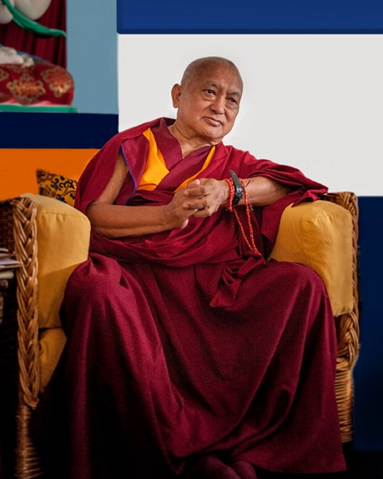 Lama Zopa Rinpoche, ILTK, Pomaia, Italy, June 17, 2014. Photo by Piero Sirianni.