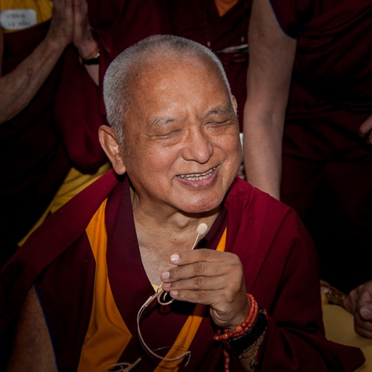 Lama Zopa Rinpoche speaking to the FPMT European Regional Meeting participants, ITLK, Pomaia, Italy, June 17, 2014. Photo by Sirianni.