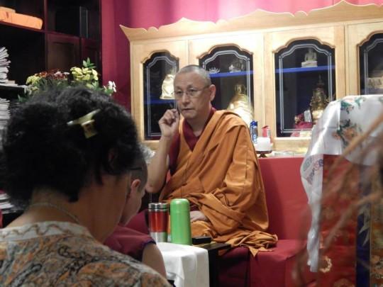 Geshe Konchog Kyab, resident geshe at Tubten Kunga Center. Photo courtesy of Tubten Kunga Center.