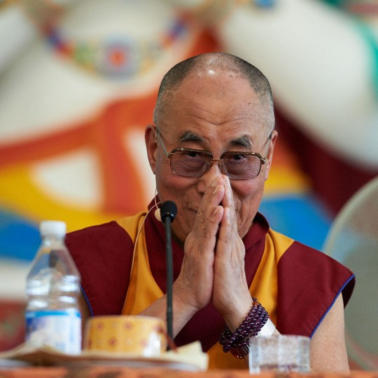 His Holiness the Dalai Lama during a press conference at Istituto Lama Tzong Khapa, Pomaia, Italy, June 12, 2014. Photo by Olivier Adam.