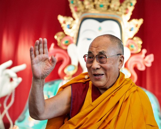 His Holiness the Dalai Lama at Istituto Lama Tzong Khapa, Pomaia, Italy, June 13, 2014. Photo by Olivier Adam.