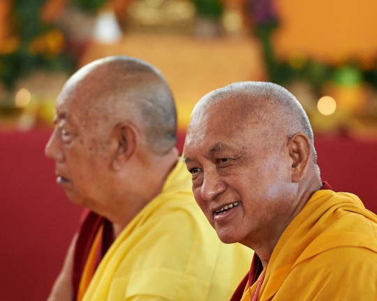 Lama Zopa Rinpoche, Pomaia, Italy, June 13. Photo by Olivier Adam.