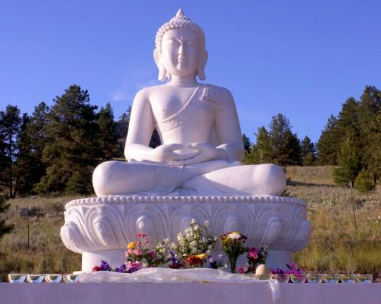 New Amitabha Buddha statue Buddha Amitabha PUre Land, Washington, US, July 2014. Photo by Merry Colony.