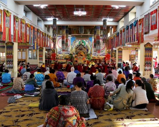 Lama Zopa Rinpoche at the 100 Million Mani retreat, Ulaanbaatar, Mongolia, August 2014. Photo by Ven. Roger Kunsang.