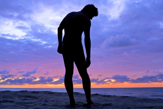 """Nude Man at Sunset"" by Alobos Life, Creative Commons Attribution via Flickr."