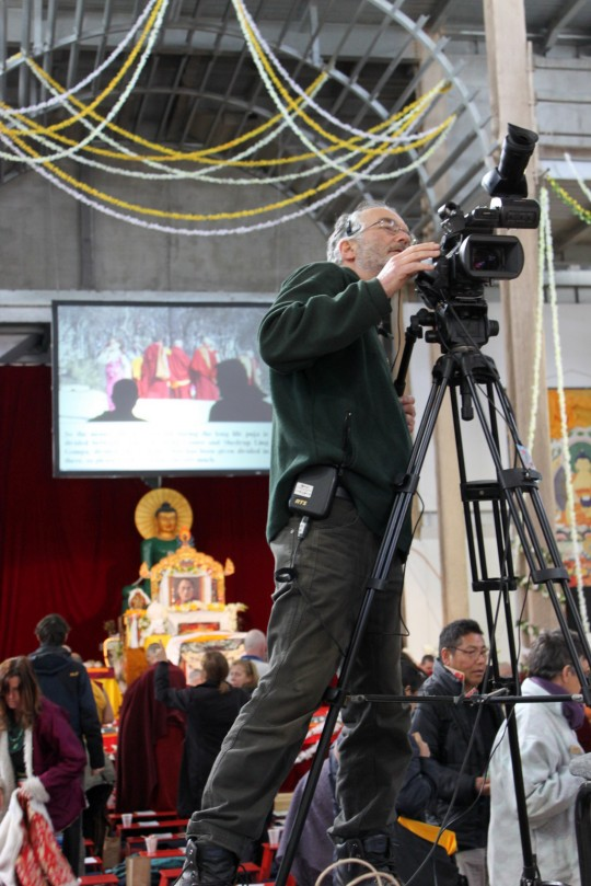 At the very close of the long life puja, Great Stupa of Universal Compassion, Australia, September 19, 2014. Photo by Laura Miller.