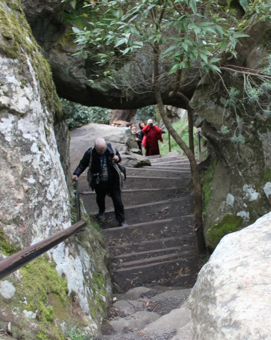 Hiking under the Hanging Rock at Hanging Rock, Victoria, Australia, September 15, 2014. Photo by Laura Miller.