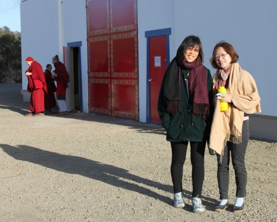 Selina Foong and Candy Tan, Great Stupa of Universal Compassion, Australia, September 2014. Photo by Laura Miller.