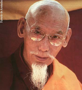 His Holiness Song Rinpoche. Tushita Meditation Center, New Delhi. 1980