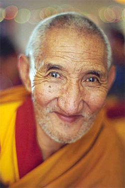Ven. Ribur Rinpoche. Photo by Mark Gatter