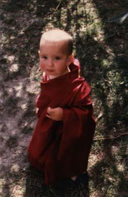 Osel at Sera Monastery, 2001.